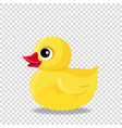 rubber or plastic duck toy for bath isolated on vector image