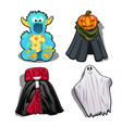 set a festive fancy costumes for kids isolated vector image