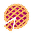 traditional american homemade berry pie with pie vector image vector image