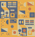 vintage geometric geometric pattern vector image