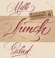 Vintage menu headlines set vector image