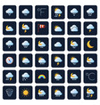 weather forecast icons climate and meteo vector image