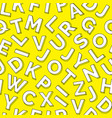 white yellow pattern children learning vector image vector image