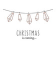 winter holidays design christmas is coming social vector image vector image