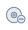 compact disk drive remove storage icon vector image