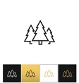Forest symbol or evergreen trees icon vector image