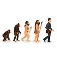 From ape to man standing process isolated Human vector image