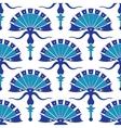 Turkish Flowers Geometric Seamless Pattern vector image