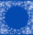 a snowy winter background vector image vector image