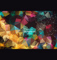 abstract polygonal colorful background with vector image