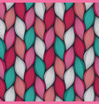 abstract wavy lines seamless pattern floral vector image vector image