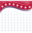 american frame background with stars vector image vector image