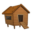 cartoon chicken coop design isolated on white vector image vector image