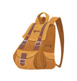 cartoon travel backpack on white background vector image
