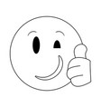 chat emoji emoticon in black and white vector image