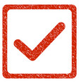 checkbox grunge icon