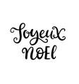 christmas ink hand lettering joyeux noel phrase vector image