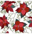 christmas plants seamless vector image vector image