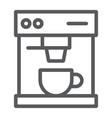 coffee maker line icon drink and espresso vector image vector image