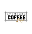 coffee shop hipster vintage stylized lettering vector image vector image