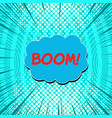 comic explosive concept vector image vector image