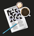 Crossword Coffee3 vector image vector image