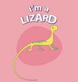 cute cartoon style lizard with title above on vector image