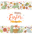 cute easter background vector image vector image