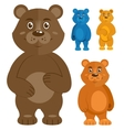 Decorative teddy bears icons set vector image vector image