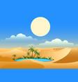 desert oasis background vector image