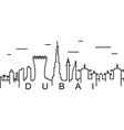 dubai outline icon can be used for web logo vector image