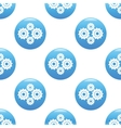 Gears sign pattern vector image vector image