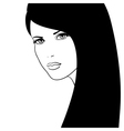 girl face fashion model vector image vector image