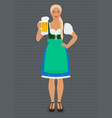 girl in traditional bavarian folk costume dirndl vector image
