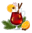 Glass of mulled wine vector image