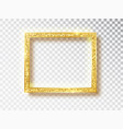 gold shiny glowing frame gold banners vector image