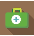Green medicine chest icon flat style vector image vector image