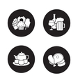 Grocery store products black icons set vector image