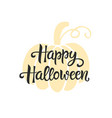 happy halloween typography poster vector image