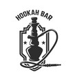 hookah shop emblem template with hookah design vector image vector image