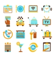 Hotel services flat icons set vector image vector image