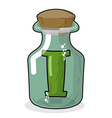 I in magic jar Letter to lab for tests and vector image vector image