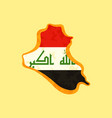 iraq - map colored with iraqi flag vector image vector image