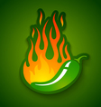 jalapeno in fire vector image vector image