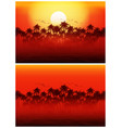 jungle at sunset vector image