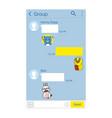 kakao talk korean messenger app chat interface vector image vector image