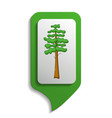map sign pine tree icon cartoon style vector image vector image