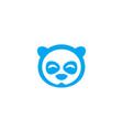 panda head logo vector image vector image