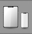 phone and tablet blank screen eps10 vector image vector image