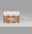 plastic roll toilet paper one package twelve roll vector image vector image